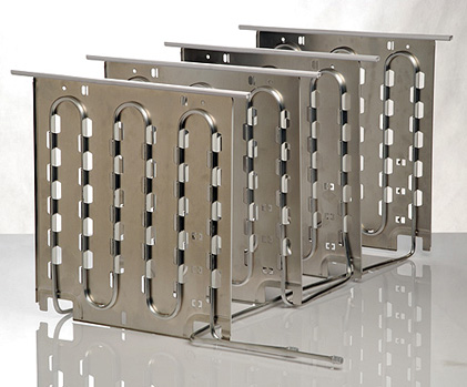 Evaporators plate-tubes for vertical freezer